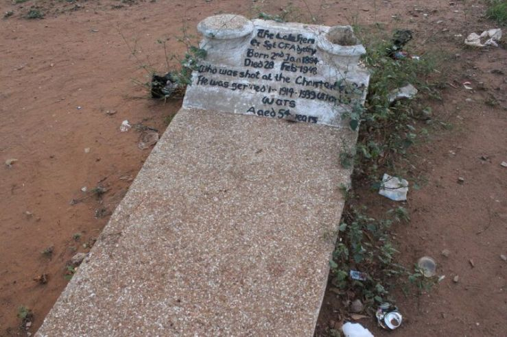 THE GRAVE OF SERGENT ADJETEY