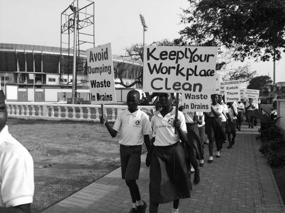 School Children on their way to parade