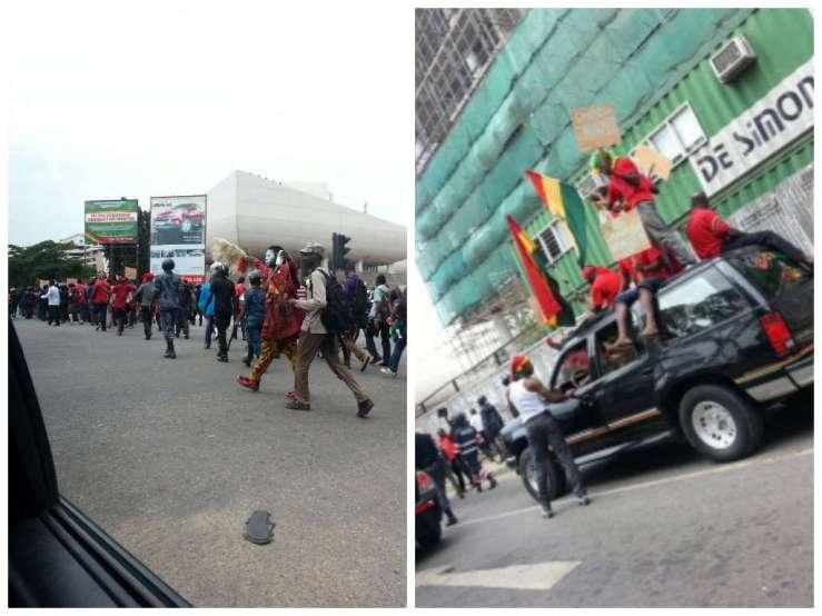 Ghana Supporters Protesting (Credit Adwoa Tutu)